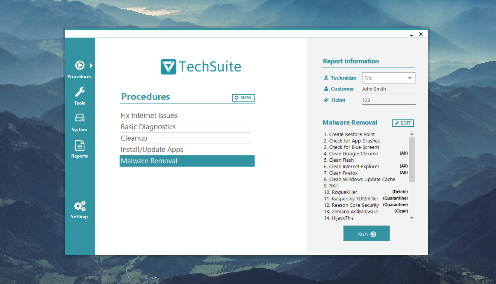 TechSuite Windows App automates your computer repair checklist from within Windows